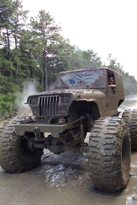 muddy jeep mud truck bad jeeps pinterest