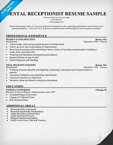 dental receptionist resume example dentist health With dentist resume sample