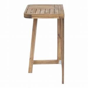 Table Balcon Pliante : youk demi table pliante pour balcon acacia huil achat vente table de jardin pliante pas cher ~ Teatrodelosmanantiales.com Idées de Décoration