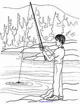 Fishing Coloring Kinderart Pdf sketch template