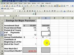 excel tells you the future value of your investment youtube With future value excel template