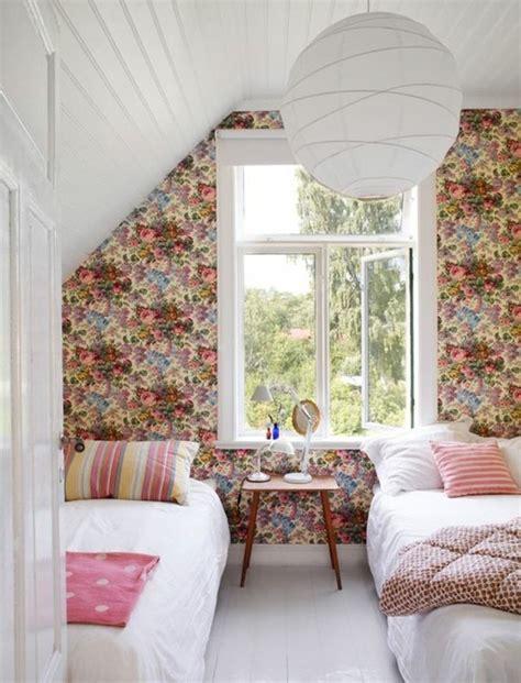 papier peint fille chambre 120 idées pour la chambre d ado unique