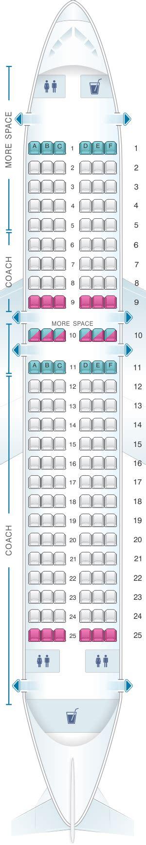 Mapa de asientos JetBlue Airways Airbus A320 - Plano del ...
