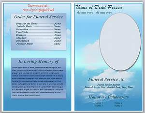 free funeral pamphlet template knowledge pinterest With funeral leaflet template free