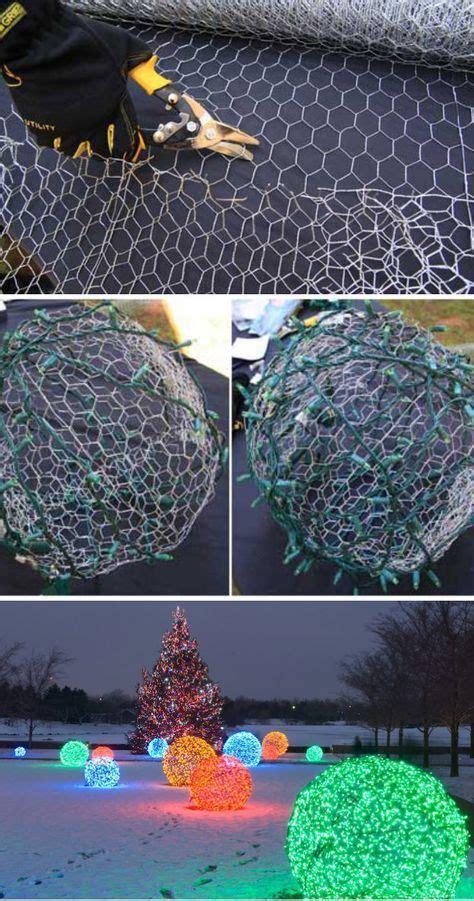 chicken wire christmas lights 30 diy decoration ideas hative
