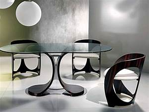 Dining Room : Fancy Modern Dining Table Design With Oval