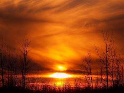 Winter Fire Forest Nature Wallpapers Sunset Lake