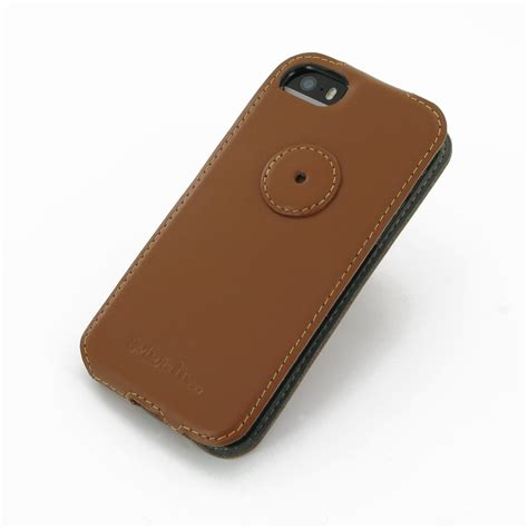 leather iphone 5s iphone 5 5s leather flip top cover brown pdair 10