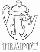 Tea Coloring Pages sketch template