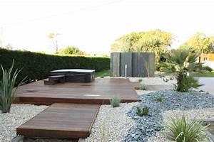 amenagement de jardin spa et terrasse en bois exotiques With amenagement terrasse et jardin 3 exotique paysage