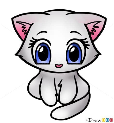 draw cute kitten cute anime animals
