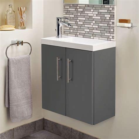 cleveland  basin  gloss grey wall mounted vanity