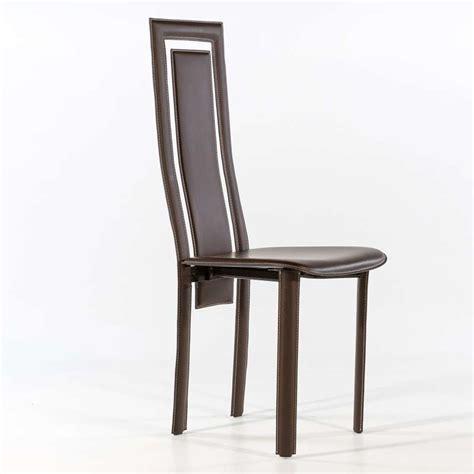 chaise en cuir noir chaise de salle à manger en croûte de cuir betty 4