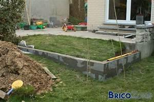 terrasse beton sur terrain en pente With pente terrasse bois composite