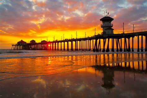 Sunset Beach Ca Orange County Piers California Beaches