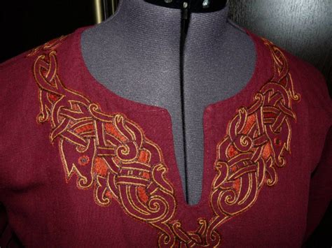 viking embroidery designs embroidery on norse style tunic viking