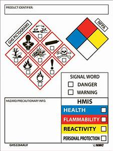 Ghs secondary container labels w special info box 250 roll for Ghs container labels