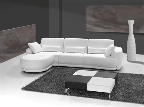 canapé d angle cuir blanc grand canap d 39 angle cuir italien blanc sofamobili