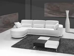 Canape Angle Cuir Blanc : grand canap d 39 angle cuir italien blanc sofamobili ~ Teatrodelosmanantiales.com Idées de Décoration