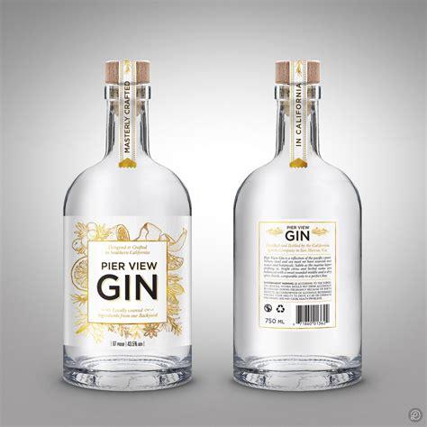 pier win gin label design  lasko label labeldesign