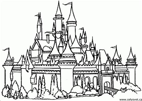 disney castle coloring pages printable coloring home