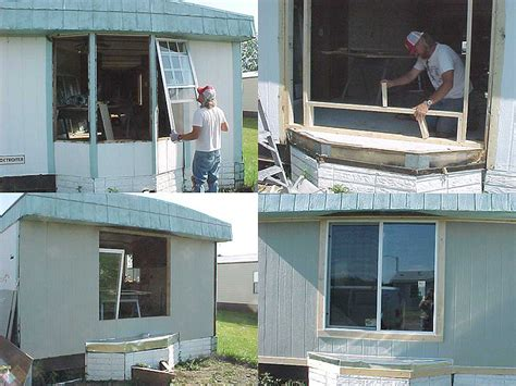 replace  leakyrotten bay window mobile home repair