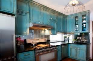 decor pendant lighting with teal kitchen cabinets and - Kitchen Cabinet Stain Ideas