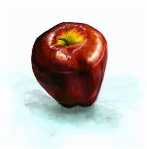 Watercolor Apple Painting
