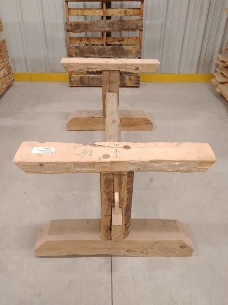 table reclaimed pine hand hewn timber base hamilton
