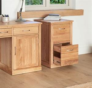 Mobel Solid Oak Two Drawer Filing Cabinet COR07A