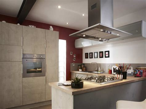 cuisine sur îlot et bar dans une cuisine de 10m leroy merlin