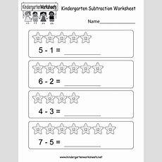 Kindergarten Subtraction Worksheet  Free Kindergarten Math Worksheet For Kids