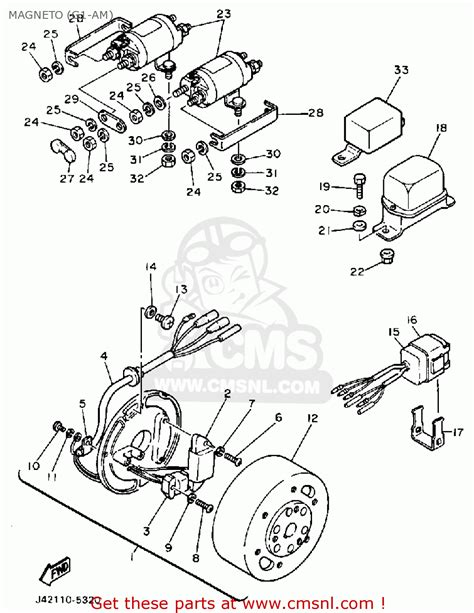 1988 Club Car Part Diagram by Yamaha G1 Am Golf Car 1985 1986 Magneto G1 Am