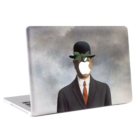 Rene Magritte Son Man Macbook Skin  Decal. Ahead Signs. Book Display Lettering. Natural Wall Murals. Kind Logo. Foam Lettering. Deadpool Decals. Narrow Road Signs Of Stroke. Forest Animal Stickers