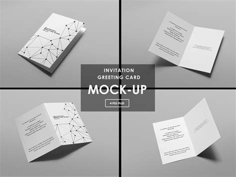 invitation greeting card mock ups  diephay dribbble