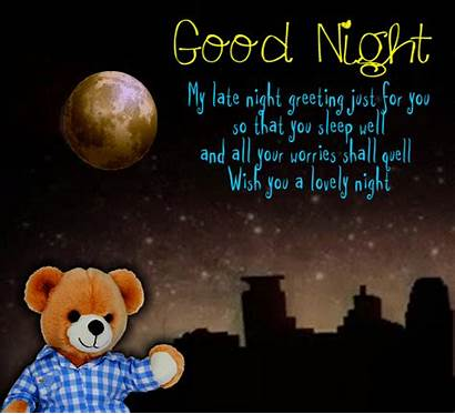 Night Greeting Late Goodnight Cards Greetings Card
