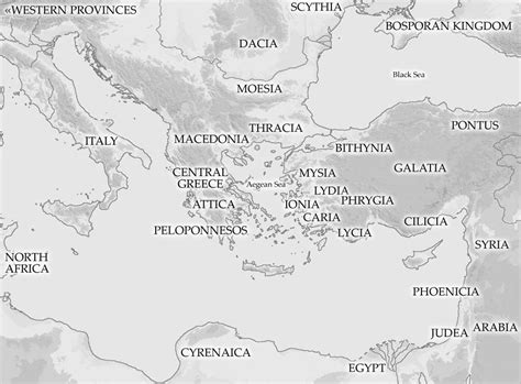 map   ancient mediterranean area