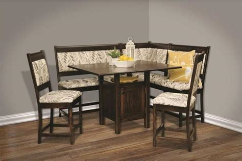 upholstered solid wood breakfast nook counter height