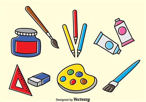 drawing tools vector set   vector art stock