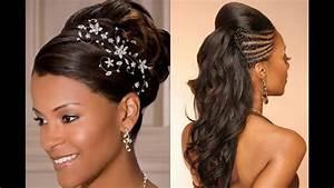 Coiffure Femme Pour Mariage : coiffure mariage femme noire ~ Dode.kayakingforconservation.com Idées de Décoration