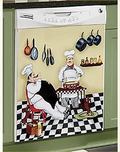 Fat Chef Dishwasher Magnet Bistro Kitchen Door Cover