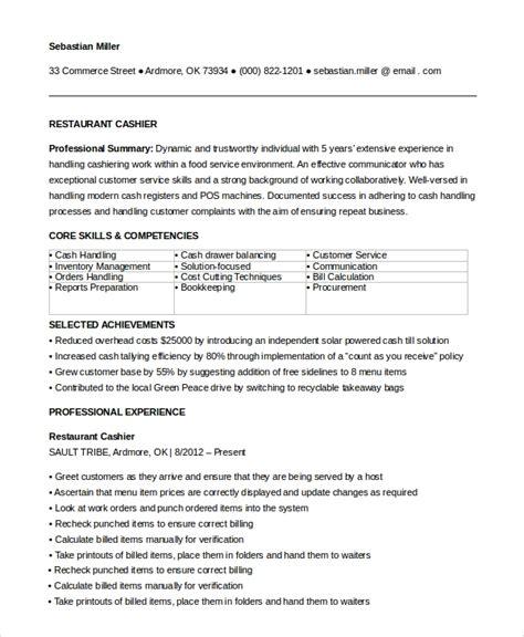 Exle Restaurant Resume by Sle Restaurant Resume 10 Exles In Pdf Word