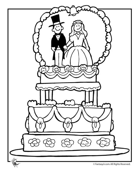 wedding coloring book pages  coloring home