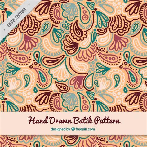 hand drawn batik pattern vector