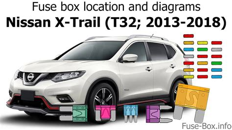 fuse box location and diagrams nissan x trail t32 2013 2018