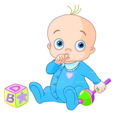 CLIPART BABY BOY WITH TOYS | Royalty free vector design ...