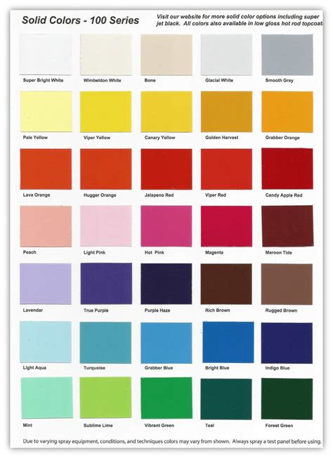 spray paint color chart  cars home painting