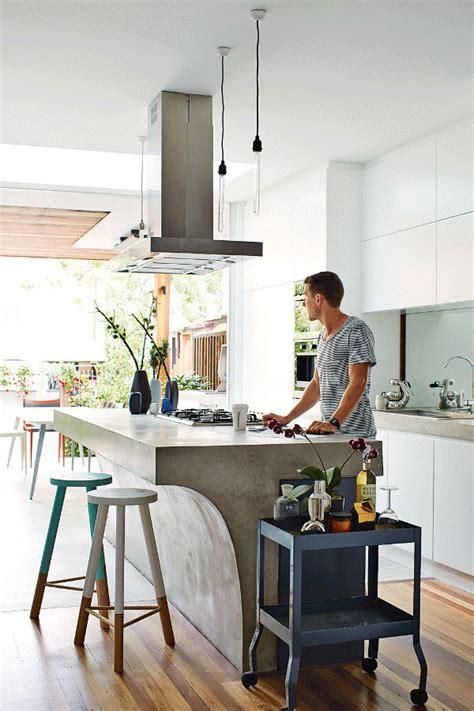 common aesthetics  concrete kitchen islands