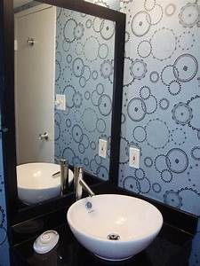 Wall designs for bathrooms : Wallpaper ideas to make your bathroom beautiful ward log