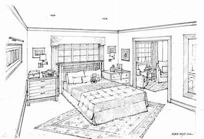 Bedroom Interior Perspective Master Google Rendering Guardado